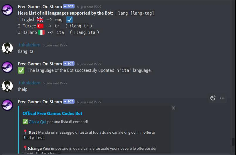 """Free Game Codes"" Discord Bot now supports Italian blog image"